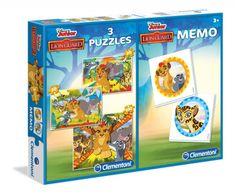 Clementoni 3 Jigsaw Puzzles + Memo - The Lion Guard