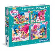 Clementoni 4 Puzzles - Shimmer & Shine