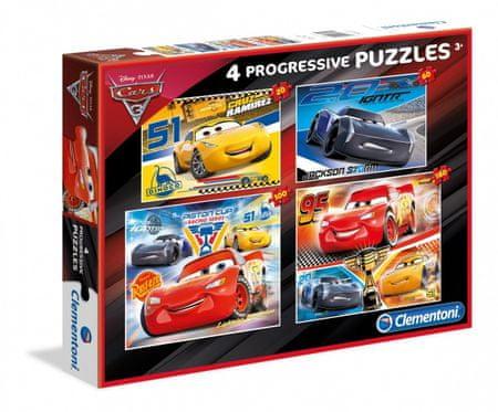 Clementoni 4 Puzzles - Cars