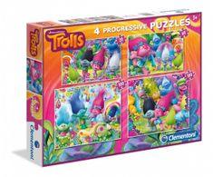 Clementoni 4 Puzzles - Trolls