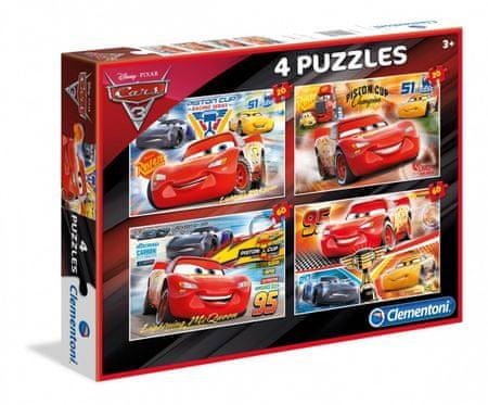 Clementoni 4 Puzzles - Cars 3