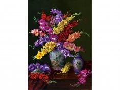 Art puzzle Puzzle 1000 pieces Flowers and Colors