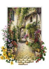 Art puzzle Puzzle 500 dílků Jolie Ruelle d'un Petit Village Fleuri