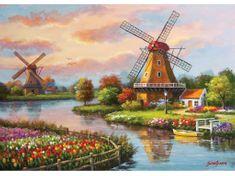 Art puzzle Puzzle 1000 dílků Windmills