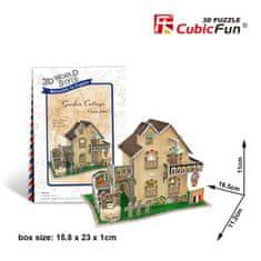 CubicFun Garden Cottage 3D 36 dielikov