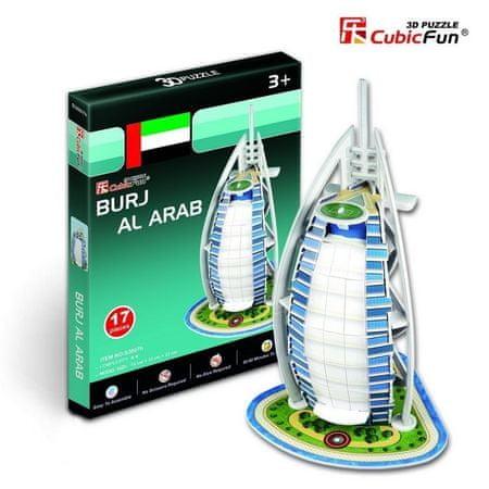 CubicFun 3D Mini Series Puzzle- United Arab Emirates: Burj Al Arab (Difficulty