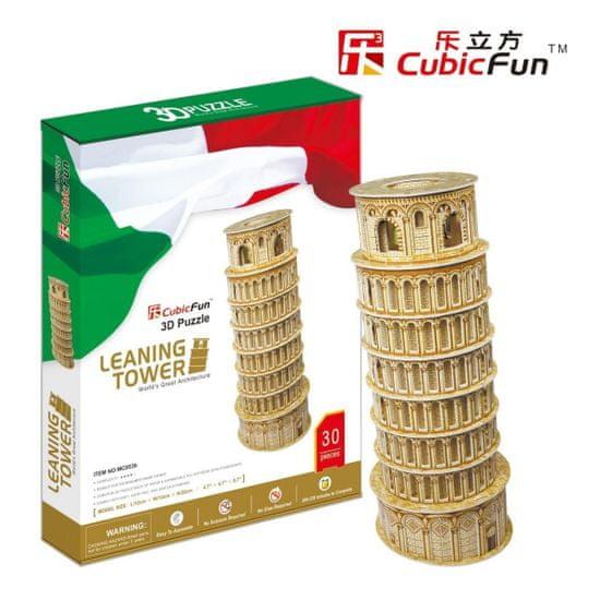 CubicFun Šikmá veža v Pise IV 3D 30 dielikov