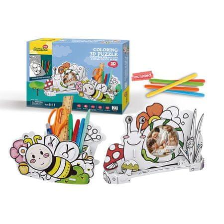 CubicFun 3D Puzzle - Honeybee Pen Holder & Snail Photo Frame