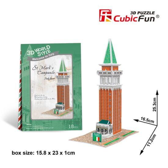 CubicFun St. Mark´s Campanile 3D 18 dielikov