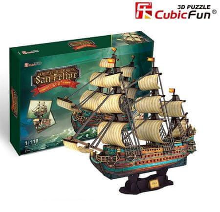 CubicFun Puzzle 248 db 3D Puzzle - The Spanish Armada-San Felipe - Difficul