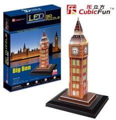 CubicFun Big Ben LED 3D 28 dielikov