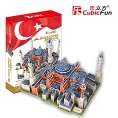 CubicFun Puzzle 225 db 3D Puzzle - Turkey, Istanbul: St. Sophia Basilica (D