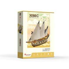 CubicFun Loď Xebec 3D 53 dielikov