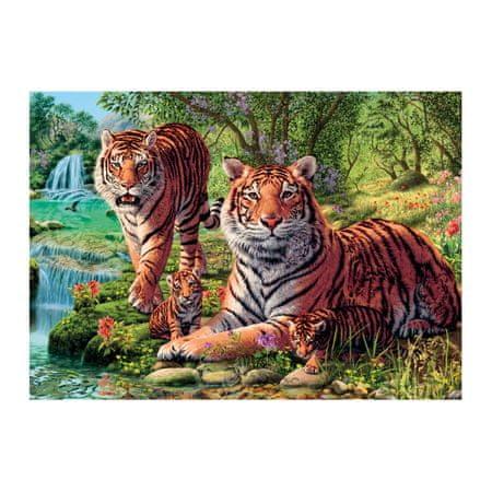 Dino Puzzle 1000 dílků Secret Puzzle - Tigers
