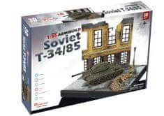 CubicFun Puzzle 213 db 3D Puzzle - Soviet T34/85 - Difficulty: 7/8