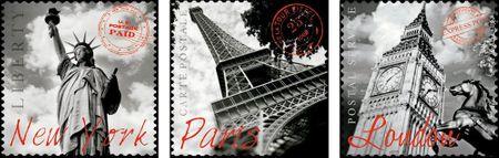 Educa Puzzle 500 dílků 3 Jigsaw Puzzles - Paris, London, New York