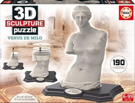 EDUCA Puzzle 190 db 3D Sculpture Jigsaw Puzzle - Venus de Milo