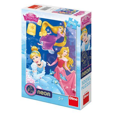 Dino Puzzle 100 dílků Neon Puzzle - XXL Pieces - Princess Disney