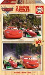 EDUCA Wooden Jigsaw Puzzle - Cars 50 dielikov