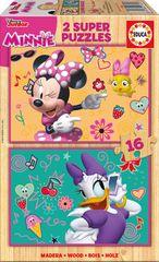 EDUCA 2 Wooden Jigsaw Puzzles - Minnie