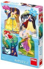 DINO 4 Puzzles - Disney Princess