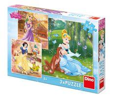 Dino 3 Puzzles - Disney Princess