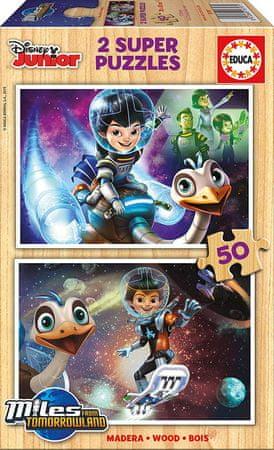 EDUCA 2 Wooden Jigsaw Puzzles - Disney Junior