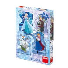 DINO 4 Puzzles - Frozen