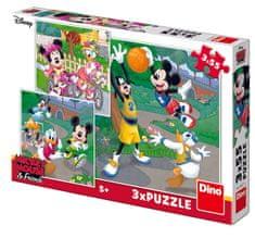 DINO 3 Puzzles - Mickey