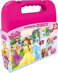 EDUCA 4 Jigsaw Puzzles - Disney Princess 12 dielikov