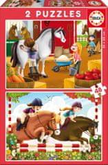 EDUCA 2 Jigsaw Puzzles - Horses