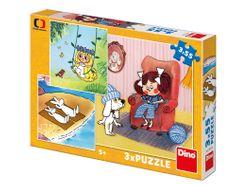 DINO 3 Puzzles - Fairy Tales