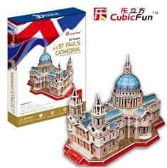CubicFun Katedrála svätého Pavla 3D, Londýn 107 dielikov