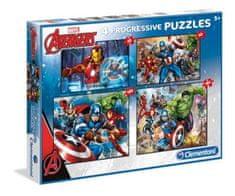 Clementoni 4 Puzzles - Marvel Avengers