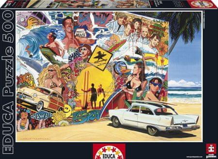 EDUCA Puzzle 500 db Alain Bertrand - Surf Mural