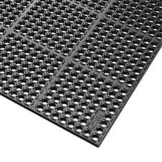 Černá extra odolná průmyslová olejivzdorná rohož (100% nitrilová pryž) Safety Stance - 150 x 90 x 2,2 cm