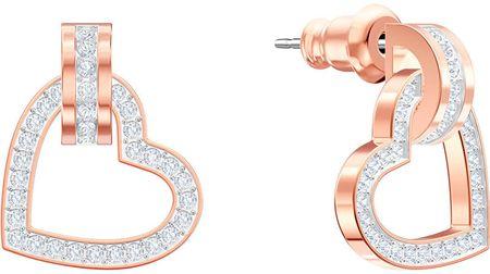 Swarovski Bronz szív fülbevaló kristályokkal LOVELY 5466720