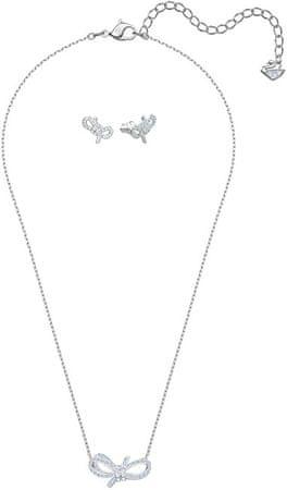 Swarovski Błyszczący komplet biżuterii z kokardkami LIFELONG 5470594
