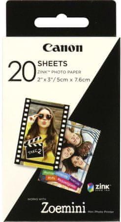 Canon foto papir ZINK za ZOEMINI, 20 komada