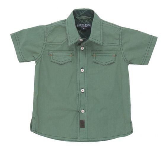 North Pole chlapecká košile 62 - 68 zelená