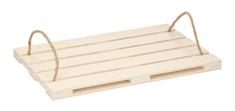 TimeLife Szervírozó tálca fa raklap dizájnnal 36x24 cm
