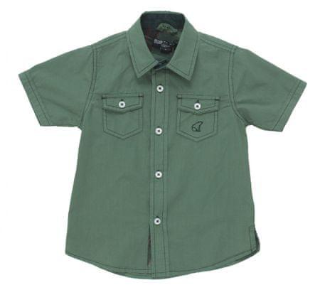North Pole chlapecká košile 98 zelená