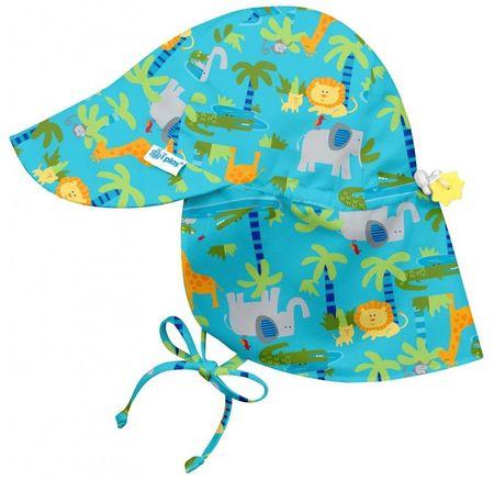 iPlay Dětský klobouček proti slunci JUNGLE UV 50+ 68 - 74 oranžová/zelená