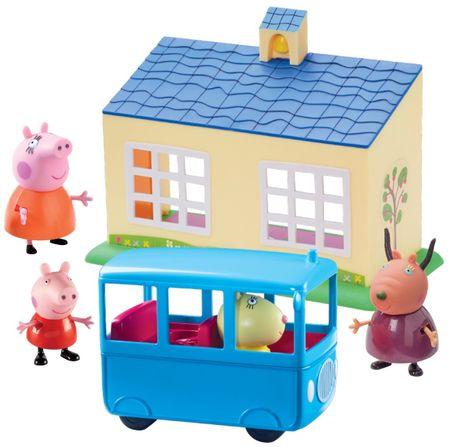 TM Toys Peppa Pig Iskola és iskolabusz játék szett