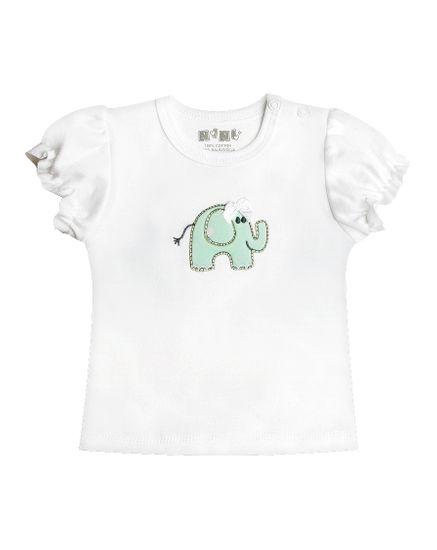 Nini dievčenské tričko 62 biele