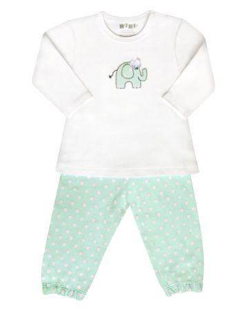 Nini dívčí pyžamo 80 bílá/zelená