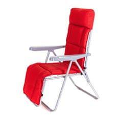 Happy Green Összecsukható kerti székek MANILLA 74 x 57 x 106 cm, lábtartóval, piros