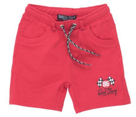 North Pole fantovske kratke hlače, 62 - 68, rdeče