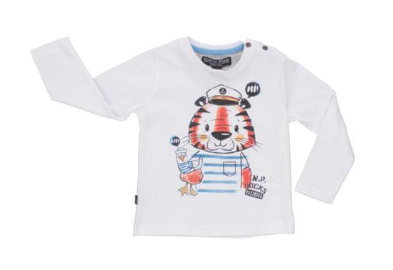 North Pole chlapecké tričko s dlouhým rukávem 68 - 74 bílá