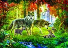 Blue Bird Krasny: Summer Wolf Family 1000 dielikov